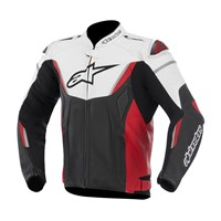 (CLEARANCE SALE) - Alpinestars GP R Perforated Leather Jacket - Black/White/Red