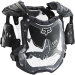 FOX 2018 R3 WOMEN'S ROOST DEFLECTOR - BLACK/GREY (SMALL MEDIUM)