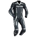 2018 IXON VORTEX 1-PIECE PERFORATED LEATHER RACE SUIT BLACK/WHITE
