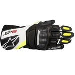 Alpinestars SP-8 V2 Leather Gloves (Black/White/Yellow)
