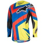 (CLEARANCE SALE) - Alpinestars 2016 TECHSTAR FACTORY JERSEY - BLUE/FLUO YELLOW