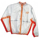 FOX 2018 FLUID WATERPROOF JACKET - CLEAR/ORANGE