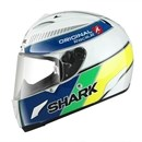(CLEARANCE SALE) - Shark RACE-R ORIGINAL White Blue Yellow Helmet