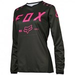 (CLEARANCE SALE) - FOX 2017 YOUTH GIRLS 180 JERSEY - BLACK / PINK