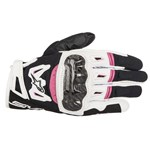 Alpinestars Women's Stella SMX-2 Air Carbon V2 Gloves - Black/White/Fuschia