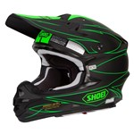 (CLEARANCE) SHOEI VFX-W HELMET HECTIC TC-4 GREEN