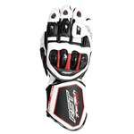 RST Tractech EVO-R Leather Gloves - White/Black