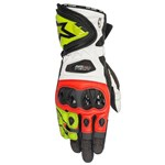 ALPINESTARS SUPERTECH GLOVES - BLACK/RED/FLURO