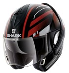 Shark Evoline Series 3 ECE Corvus Black/White/Red Helmet