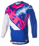 (CLEARANCE) Alpinestars 2018 Youth Racer Venom Jersey - Blue/Pink Fluo/White