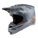 Alpinestars Supertech S-M10 Carbon Meta Helmet - Black Grey / Fluro Orange