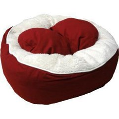 Cat Cuddler, round bed for cats with warm and comfy sherpa inner.