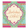 Gift Tag - Birthday Wishes Turquoise