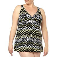 Mayan Waves Plus Size Swimdress One Piece Bathers