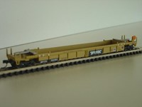 Walthers N/Scale Double Stack Car TTX #54151 , fitted with accumate style couplings