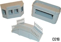 Dapol OO/HO Scale Kiosk & Steps Kit