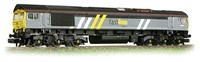 Graham Farish N/Scale Class 66 Locomotive #66301 Fastline Livery