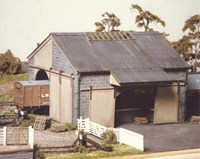 Ratio OO Scale Kit #534  Large Stone Goods Shed