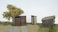 Two Grotty Huts & Privy