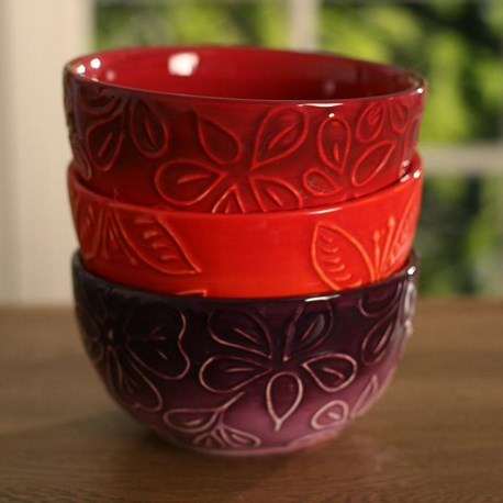 Embossed Bowls