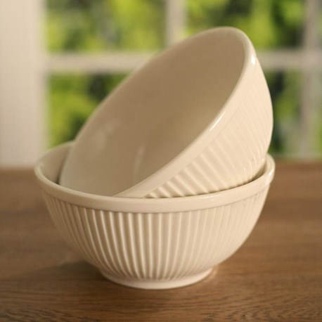 Ribbed Ceramic Bowl