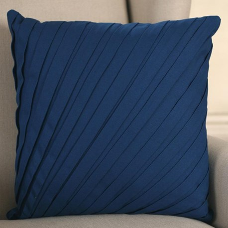 Pleated French Blue Cushion