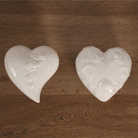 Ceramic Decor Hearts - Two Shapes