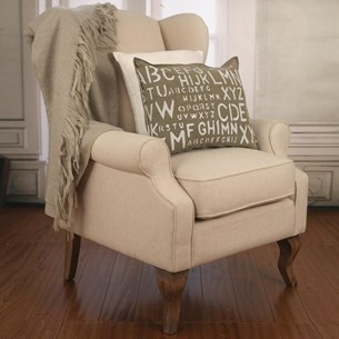 Wingback Chair 100% Linen