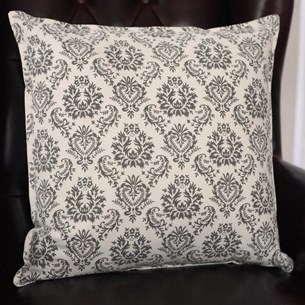 Grey/White Pattern Cushion