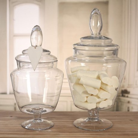 Glass Jars Tapered - Two Sizes