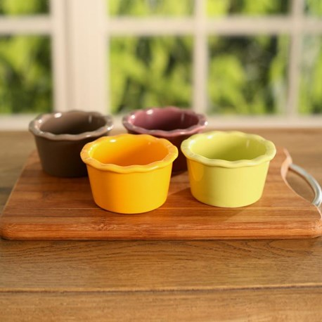 Colourful Condiment Dishes - Four Colours