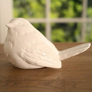 White Ceramic Bird