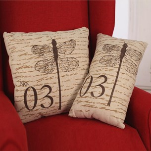 Dragonfly Script Cushion - Square or Lumbar
