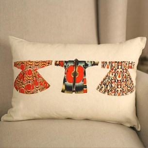 Three Dresses Lumbar Cushion