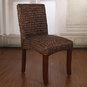 Woven Seagrass Dining Chair - Brown