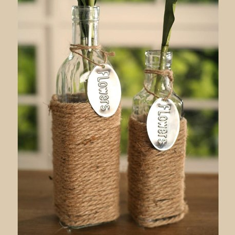 Glass Bottles with Rope