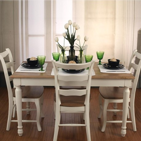 Oak/White Dining Tables - 'Brittany Collection'