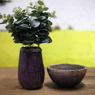 Purple Concrete Bowl or Vase