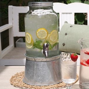 Set of 2 Mason Jar Drink Dispensers