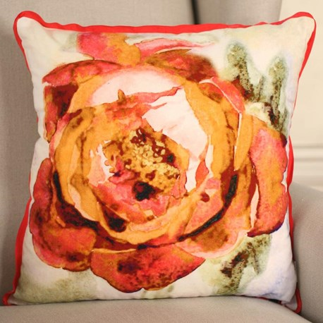 Rose Watercolour Cushion