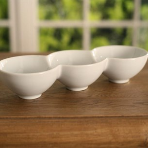 Three Bowl Serving Dish Round