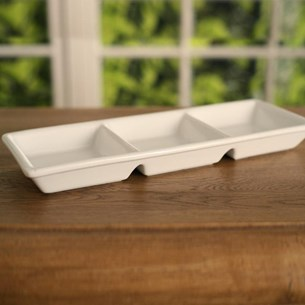 Three Bowl Serving Dish Square