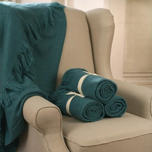 Throw Rug Soft Touch Teal