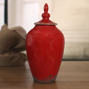 Rustic Red Canisters - Two Sizes