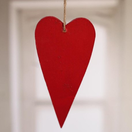 Wooden Heart Large - red or white