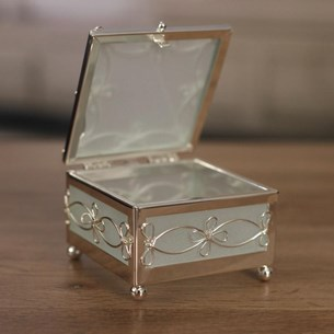 Filigree Metal Jewellery Box