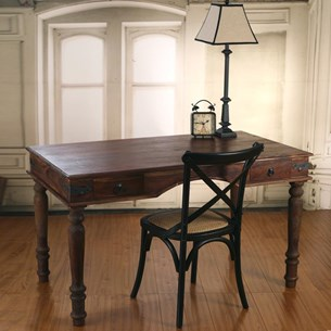 Rustic Hardwood Desk - 'Acquisition'