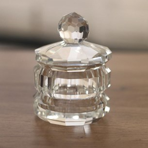 Crystal Trinket Box - 8.5cms