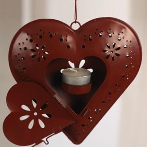 Heart Tea Light Holder - Two Colours