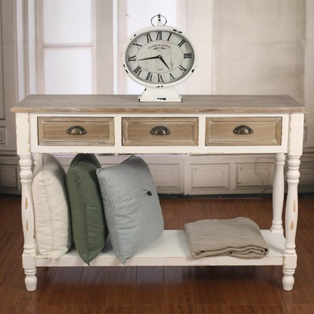 Three Drawer Sofa Table - 'Beachmere'